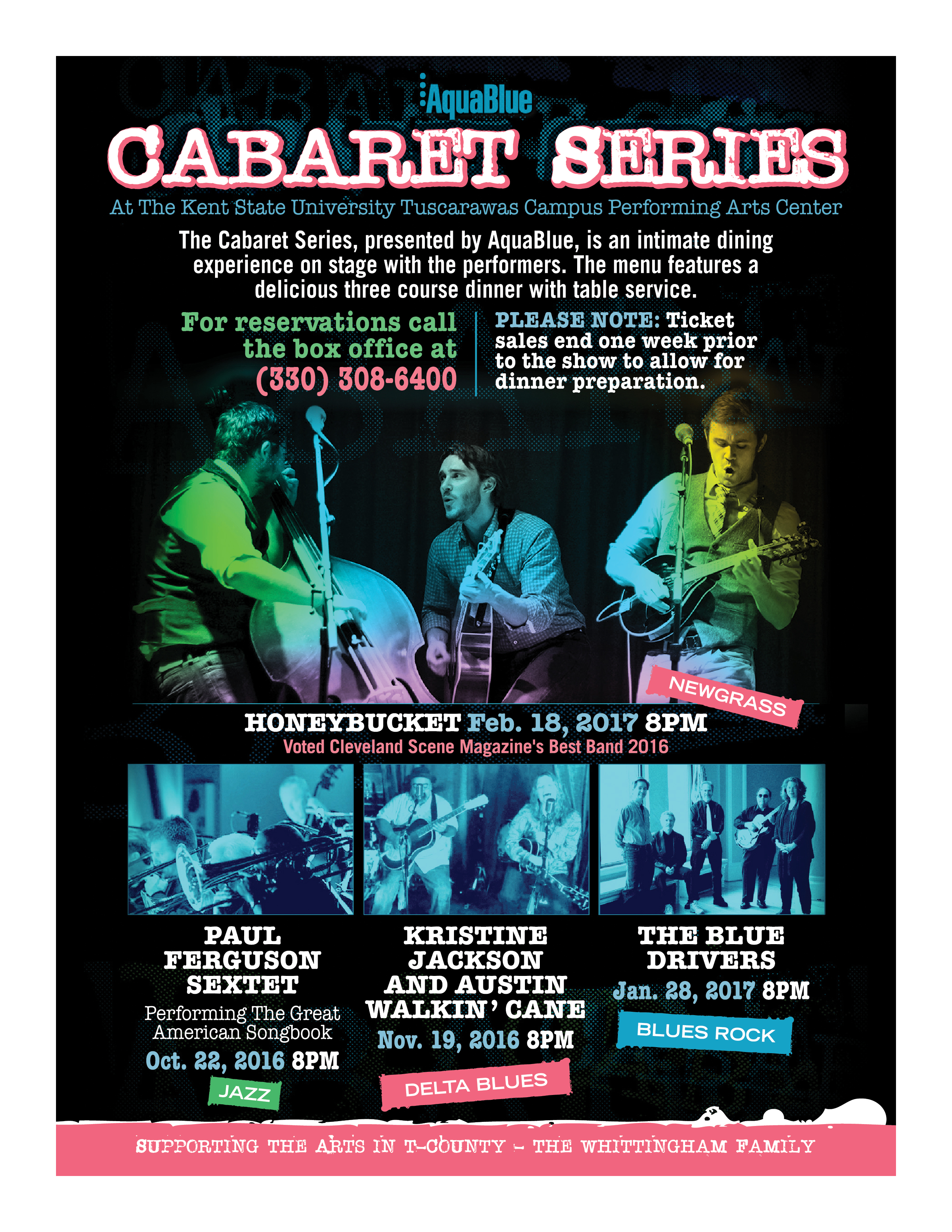 The Cabaret Series, presented by AquaBlue at the Kent Tusc Performing Arts Center.